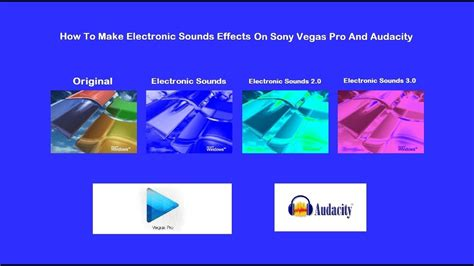 How To Make Electronic Sounds Effects On Sony Vegas Pro