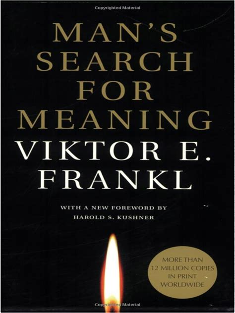 Man's Search for Meaning by Viktor E