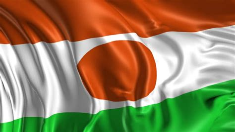 Flag of Niger Beautiful 3d Stock Footage Video (100%