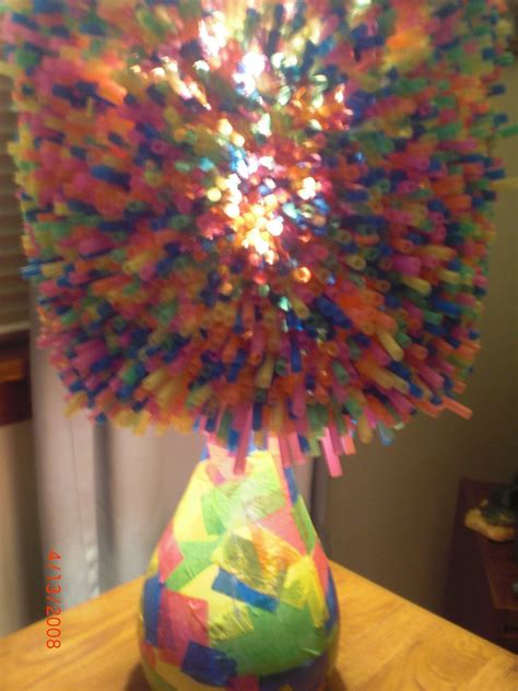Sweet Bendy Straw Lamp · How To Make A Straw Light