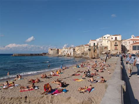 Cefalù is a resort town in Sicily (Italy)