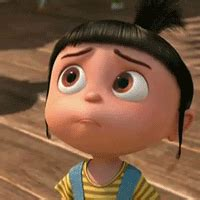 Agnes Gru Looks Up With Sad Eyes (Despicable Me) | Gifrific