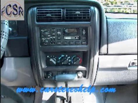 Jeep Cherokee Sport Stereo Removal - YouTube