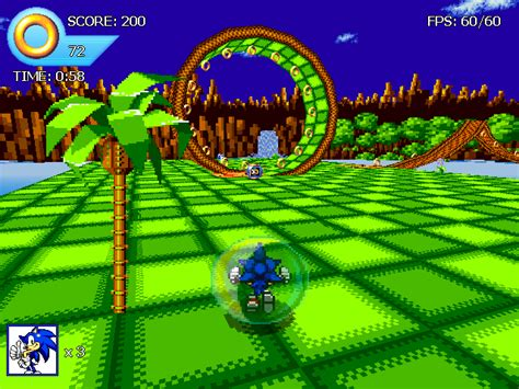 Sonic Simple 3D Engine Download