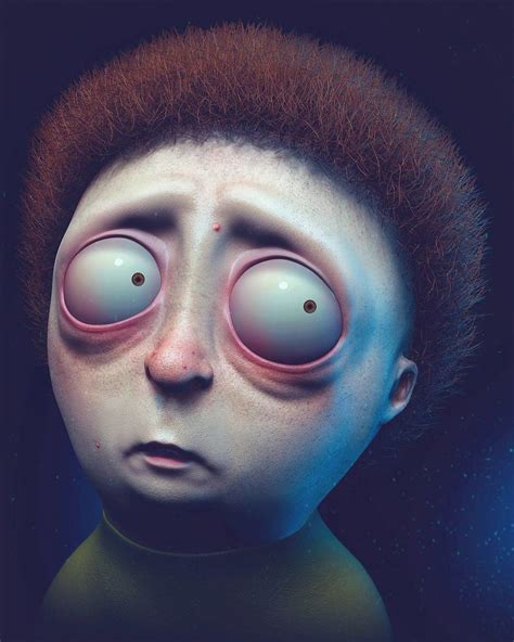 Wil Hughe's Nightmare Inducing Realistic 'Rick and Morty