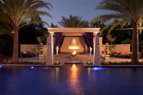 Awesome Egyptian Themed Swimming Pool | Homes of the Rich