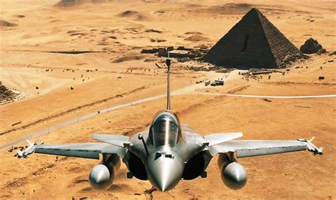 Dassault Rafale and The Pyramid Aircraft Wallpaper 1810