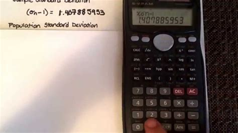 Standard deviation & other statistical calculations using