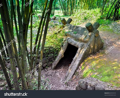 Entrance To Viet Cong Underground Bomb Shelter Used During