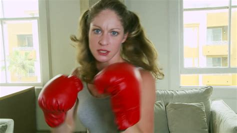 Young Woman Boxing Stock Footage Video (100% Royalty-free